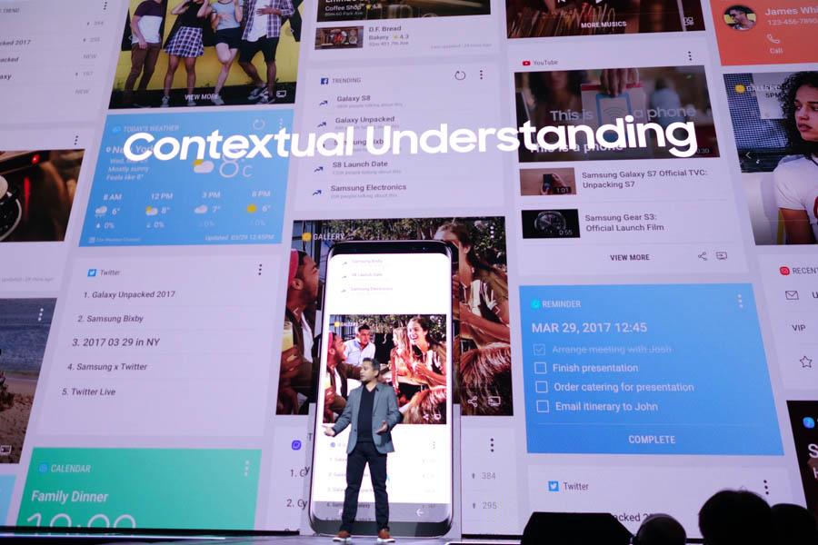 Bixbyはさまざまな情報や機能をアウトプットする