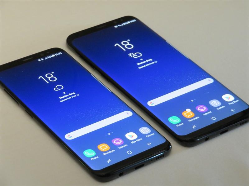(左から)Galaxy S8とGalaxy S8+