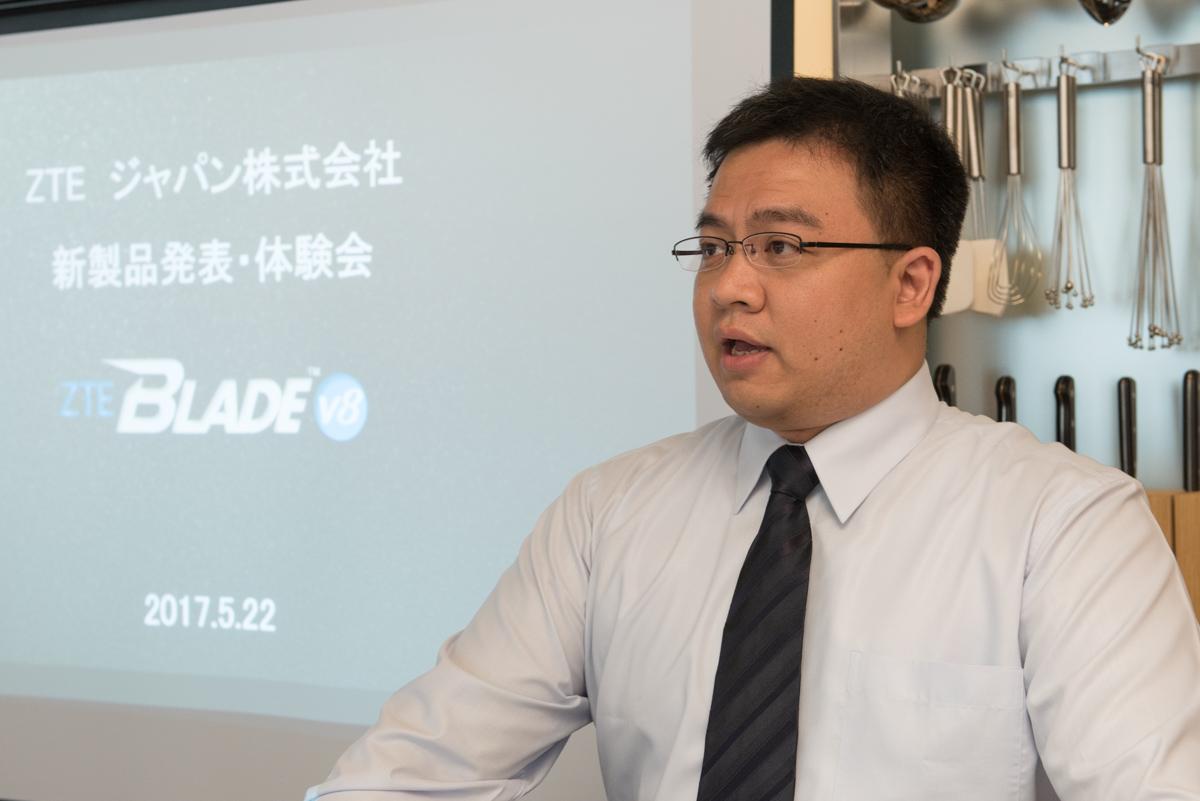 ZTE マーケティングディレクターのハーバート・チャン氏