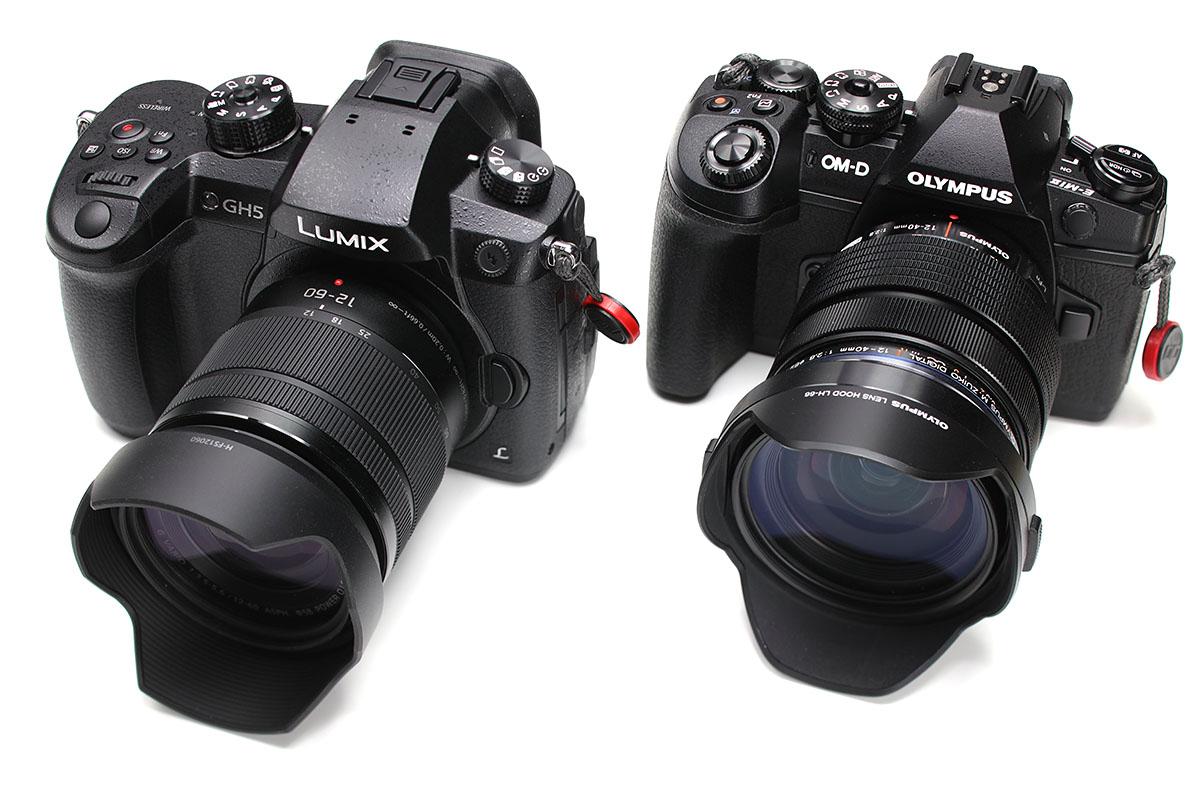 """パナソニックの「LUMIX DC-GH5」。マイクロフォーサーズ規格のミラーレスカメラです。レンズとして「LUMIX G VARIO 12-60mm/F3.5-5.6 ASPH./POWER O.I.S.」(<a href=""""http://panasonic.jp/dc/lens/lumix_g_vario_12-60/"""" class=""""n"""" target=""""_blank"""">公式ページ</a>)が付属するレンズキット(DC-GH5M)を買いました。マイクロフォーサーズ規格なので、オリンパスのOM-Dシリーズ(<a href=""""http://k-tai.watch.impress.co.jp/docs/column/korekori/1059916.html"""" class=""""n"""" target=""""_blank"""">関連記事</a>)などと共通のレンズが使えます。"""