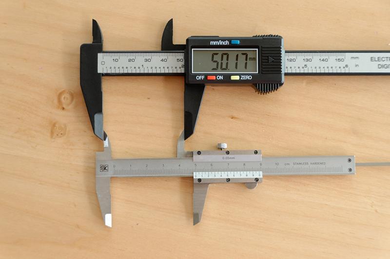 外径測定ではプラス0.17mm