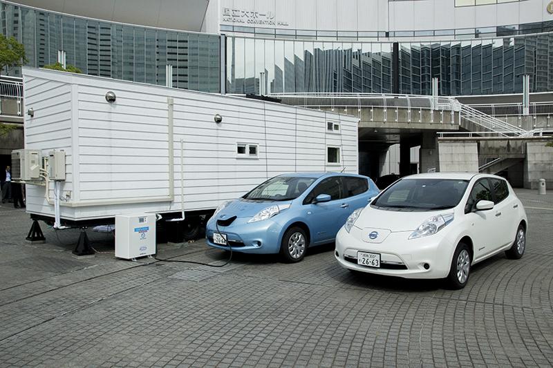 「IoTスマートホーム」。電源としてハイブリッド車を使用していた