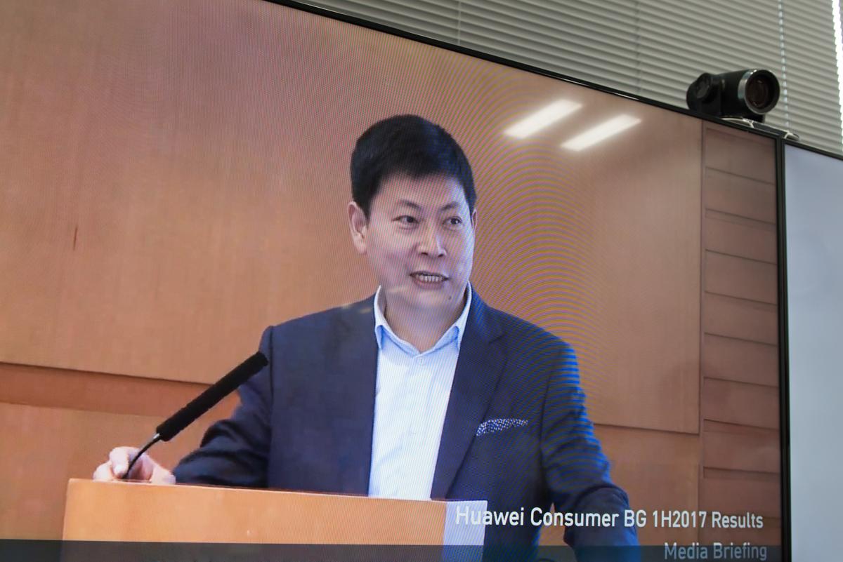 ファーウェイ コンシューマー事業部 CEOの余承東(リチャード・ユー)氏