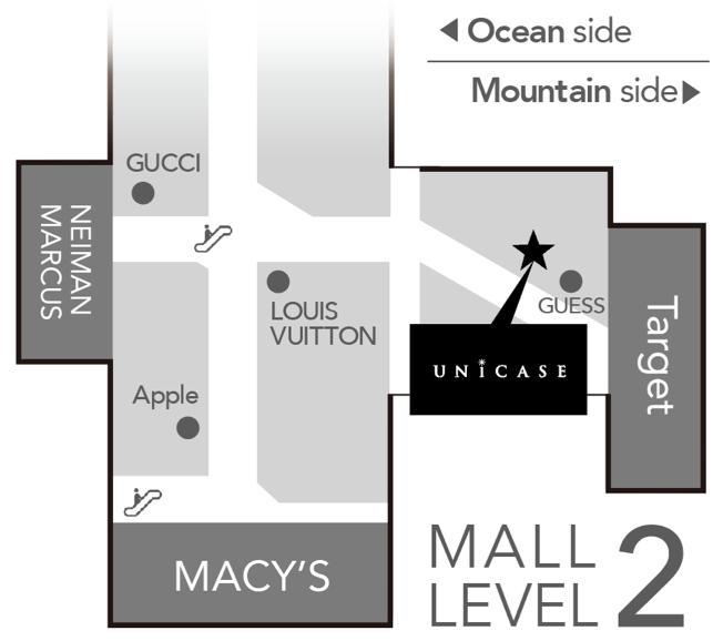 UNiCASE アラモアナセンターの場所