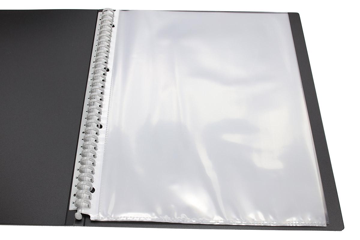 A4・30穴タイプに対応したファイル。A4書類が入るポケットなどを綴じられます。
