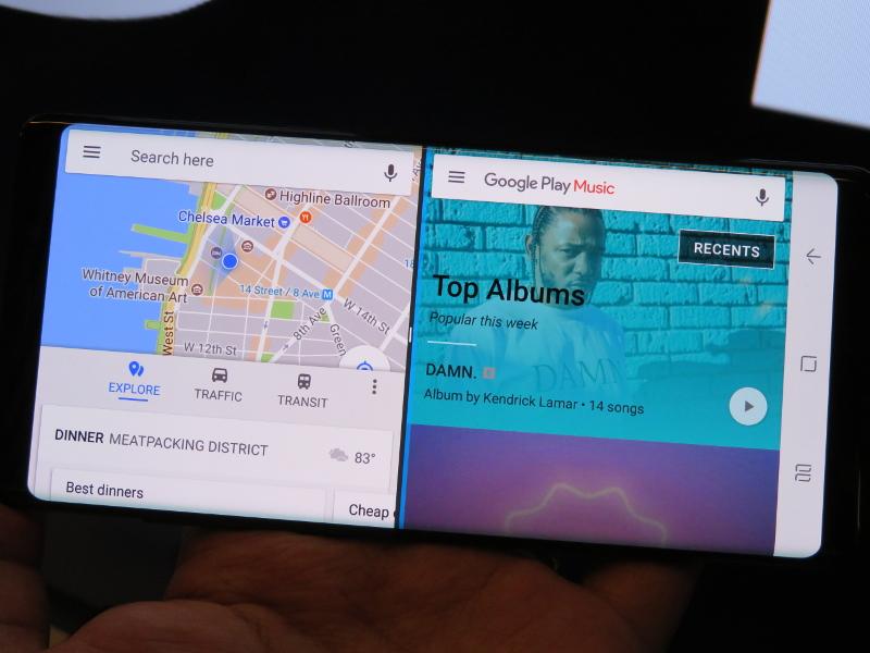 マルチウィンドウで地図アプリと音楽アプリを一発起動