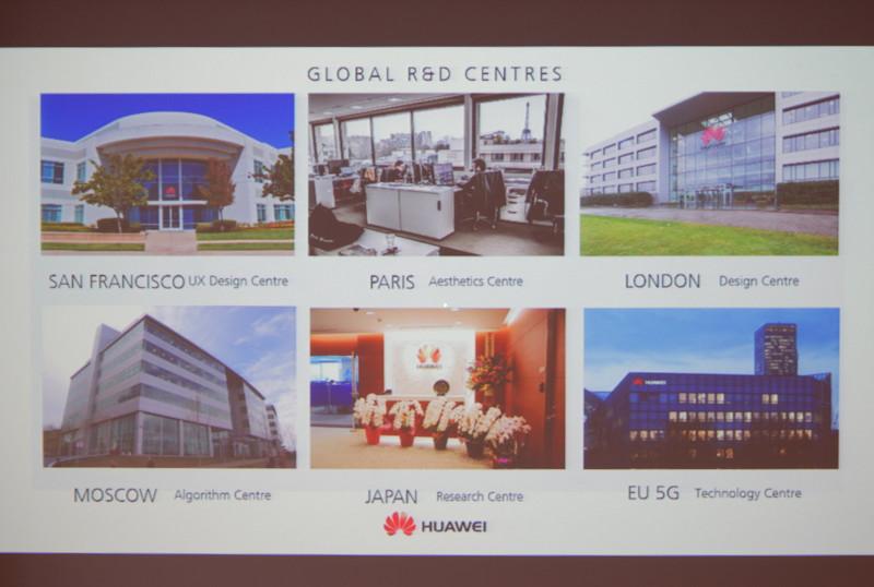 世界各地のR&Dセンターは、地域ごとの人材の特色に合わせて担当分野を変えている