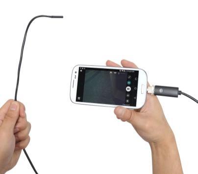 「Android/PC 両対応 5.5mm 径内視鏡ケーブル 2m 形状記憶タイプ」