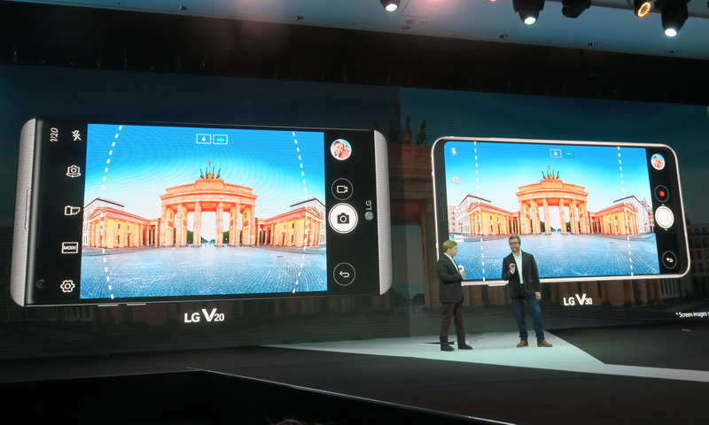 LG V30のカメラにはF1.6のガラスレンズを採用。一般的なスマートフォンで採用されるプラスチック製に比べ、レンズが明るく、歪みや収差も少ない
