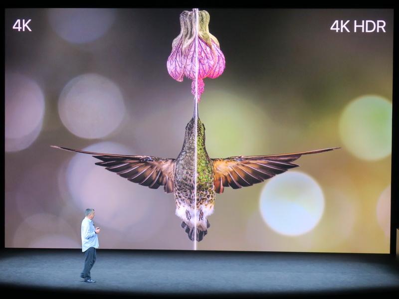 4K HDRに対応したApple TV4K。一般的な4Kよりも美しい映像を楽しむことができる
