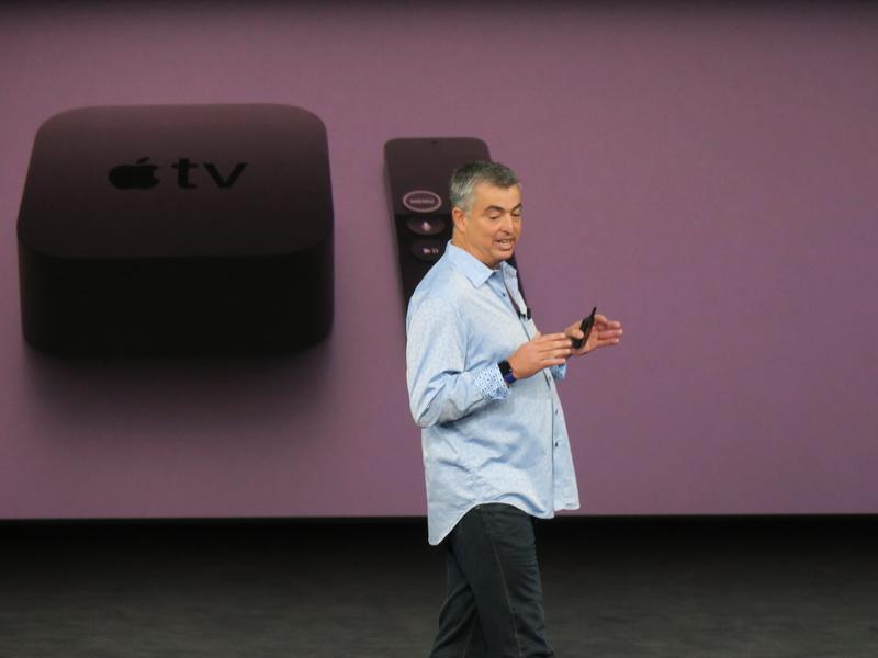 Apple TV4KのプレゼンテーションはSenior Vice Presidentのエディ・キュー氏が担当した