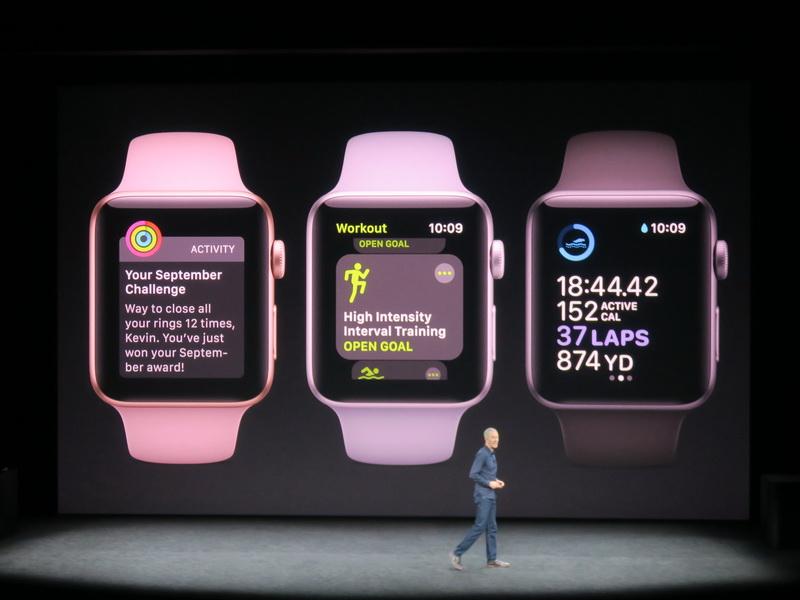 ワークアウトなど、さまざまな運動や健康に関する情報を取得できるApple Watch