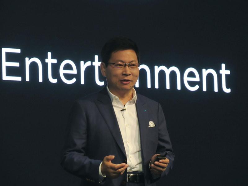 ファーウェイCEOでConsumer Business Group担当のRichard Yu氏が登壇