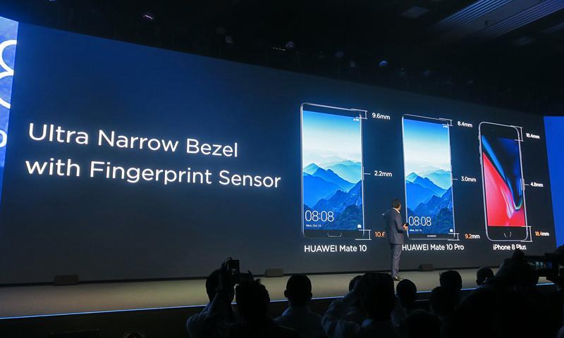 iPhone 8 Plusに比べ、左右のベゼル、上下のベゼルがいずれも狭く仕上げられている
