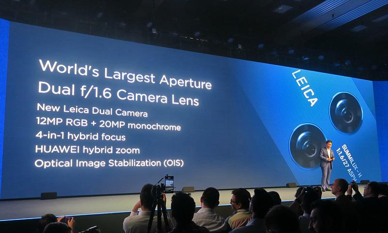 カメラはF1.6の明るさを持つ新しいLeicaの「SUMMILUX-H」を搭載。12MPのRGBセンサーと20MPのモノクロセンサーを組み合わせたデュアルカメラ