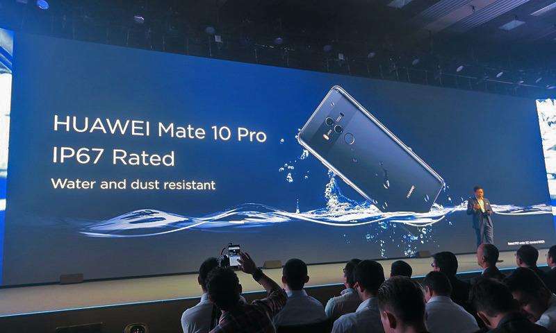 HUAWEI Mate 10 ProはMateシリーズ初のIP67防水防塵対応。HUAWEI Mate 10はIP53の防滴防塵対応