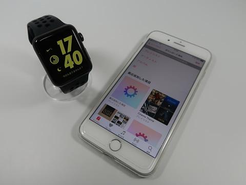 Apple Musicのストリーミング再生に対応、watchOS 4.1で利用シーンが拡がるApple Watch Series 3 iPhoneを使わなくてもさまざまな機能が利用できるようになったApple Watch Series 3のGPS+Cellularモデル
