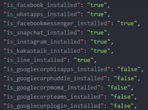Grabosがインストール状況を送信していたアプリ