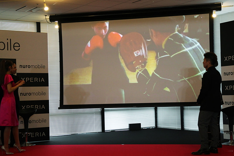 ボクシングでスローモーションの性能を確かめた