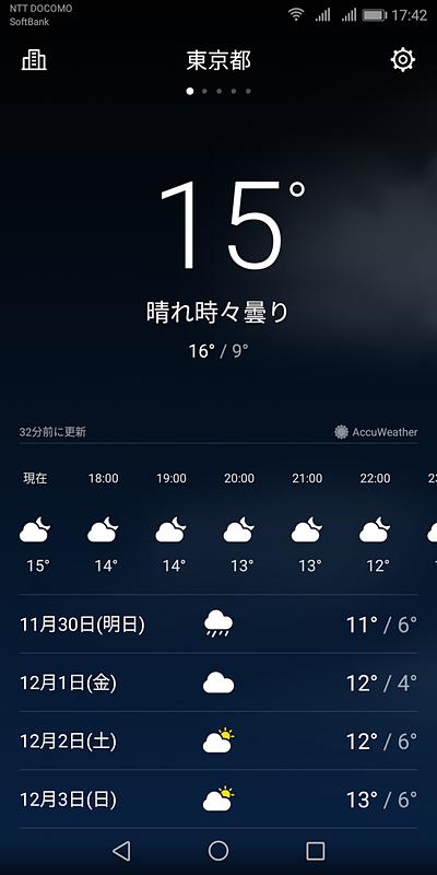 天気アプリ