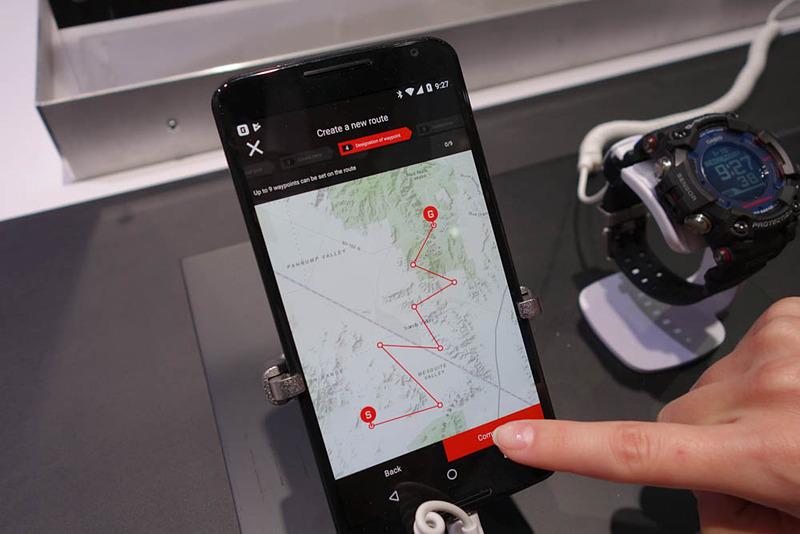 連動アプリで設定したルートを転送できる