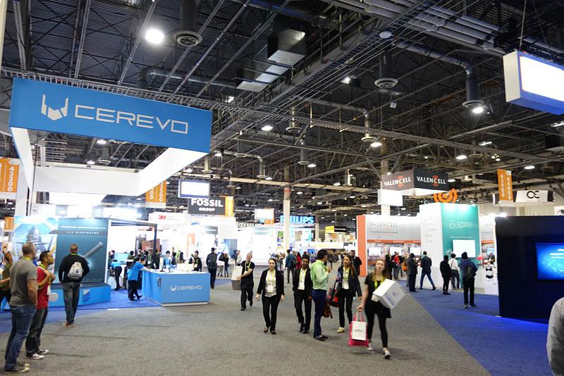 Cerevoブース。Cerevoの一等地確保のセンス・手腕は世界一だから後述のJETROやJapan Techも見習うべきかも