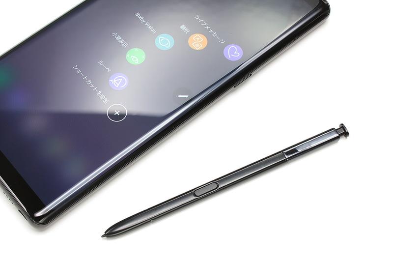 NTTドコモのサムスン製端末「Galaxy Note8 SC-01K」。2017年10月26日発売ですが、その約1カ月後に購入しました。言わずと知れたデジタルペン「Sペン」が使える手書きが快適な端末で、メモ書きはもちろんお絵描きも快適にこなせます。ペンを活用するための機能も多々装備。