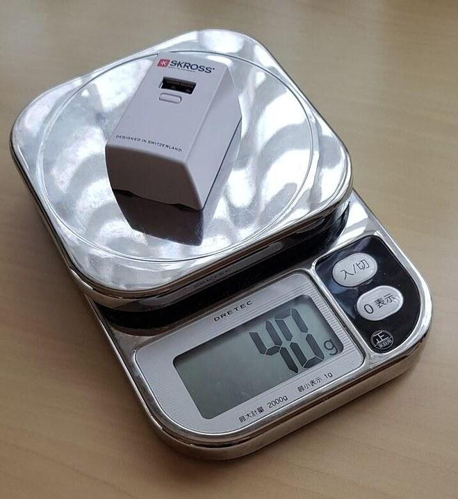 4分の1クラスの1200mAhなら、携帯重量も4分の1クラスに減量できる