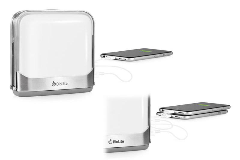 2つの給電用USBポートを備えたモバイルバッテリーとしても使えて、2台の端末を同時に充電できます。バッテリー容量はBaseLanternが7800mAh、BaseLantern XLが12000mAh。