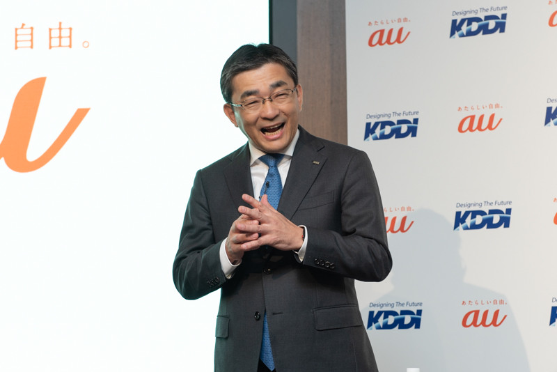 KDDI 代表取締役社長の高橋誠氏