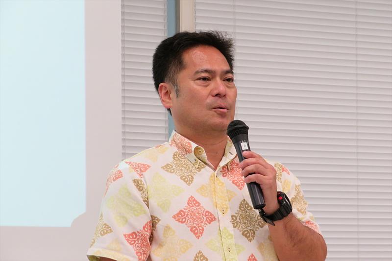 沖縄県文化観光スポーツ部空手振興課 課長の山川哲男氏