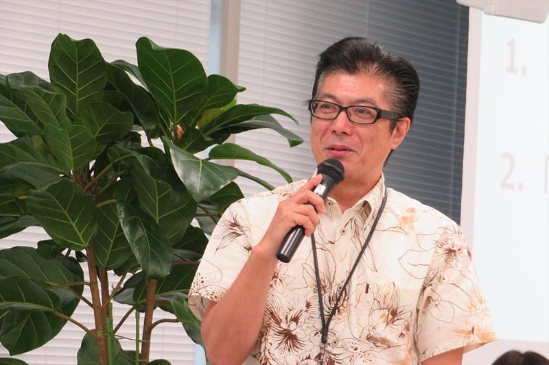 沖縄セルラー電話 理事 営業本部 副本部長 ソリューション営業担当の甲斐田裕史氏