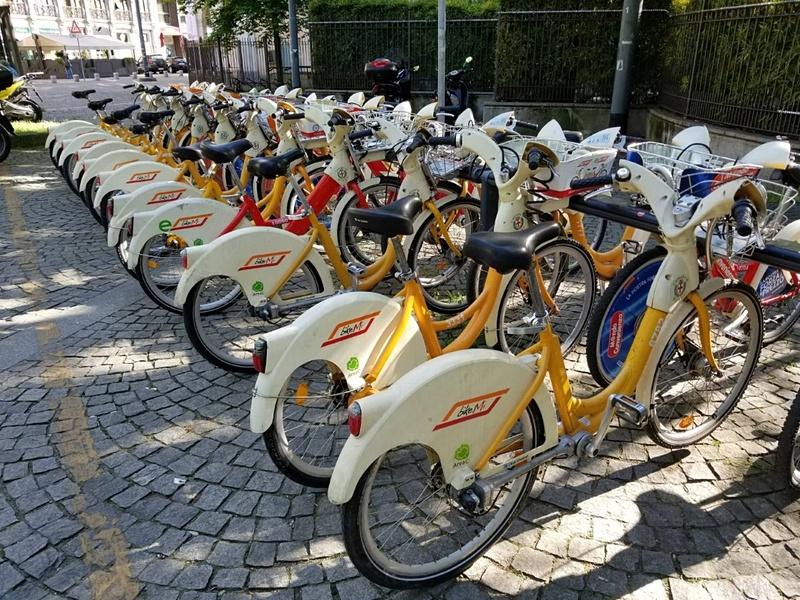 ミラノのシェア自転車BikeMi。これで市内を走り回った