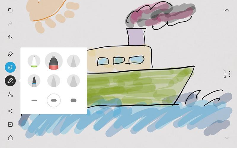 ワコムの「Bamboo Paper」をダウンロードし、M-Penでお絵描きをしてみたが、こうしたアプリで子どもと楽しむのもおすすめだ。