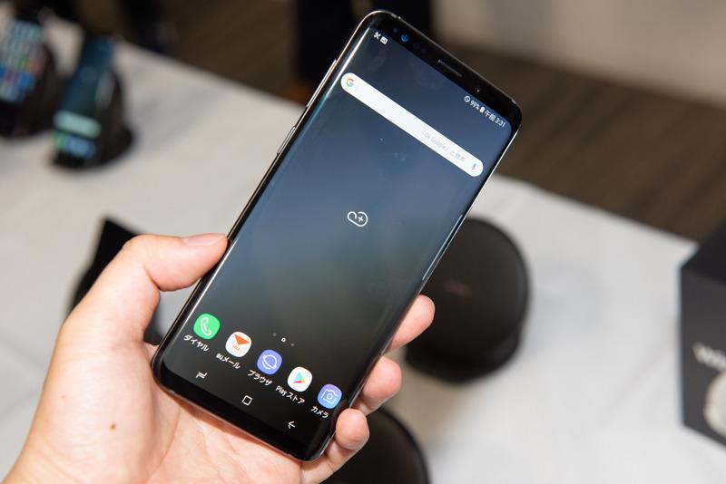 「Galaxy S9+ SCV39」チタニウムグレー
