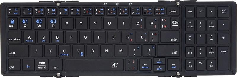ややミニサイズのキーボードですが、ファンクションキーが省略(fnキーと併用で機能)されていることを除けば「ほぼフルキーボード」です。
