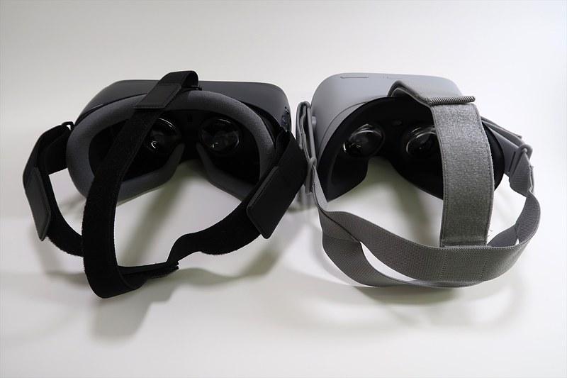 スタンドアロン型のOculus Go。Oculus Goの方がやや細め