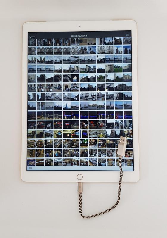 microSDカードに記録された撮影データもiPad Pro内部の写真データと変わらないスピードで表示できた