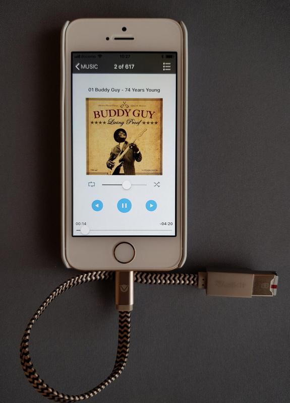 Androidスマホで使用しているmicroSDカード内の音楽をiPhoneで再生