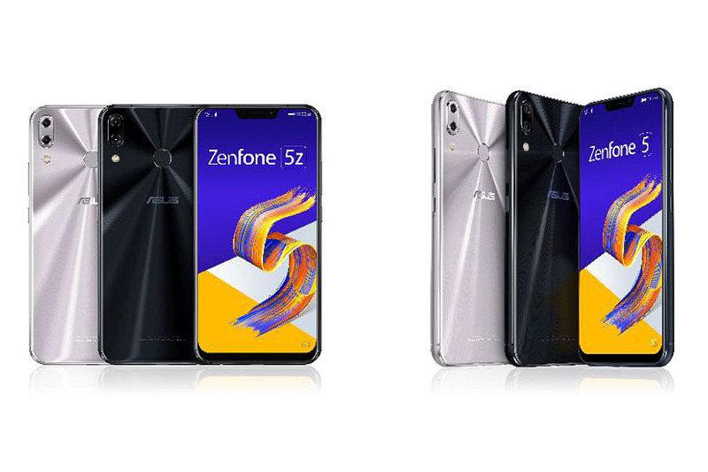 ZenFone 5Z(左)とZenFone 5(右)