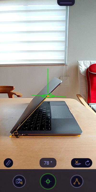 角度も簡単に測れる