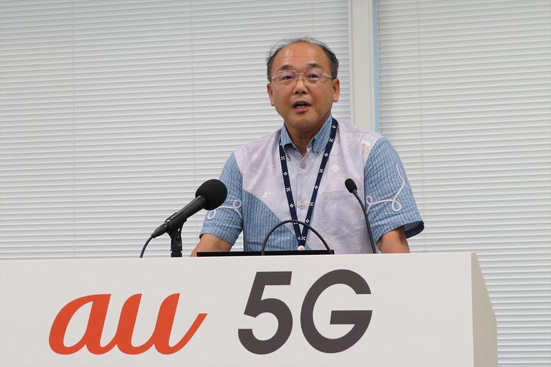 沖縄セルラー電話 常務取締役 技術本部長の山森誠司氏