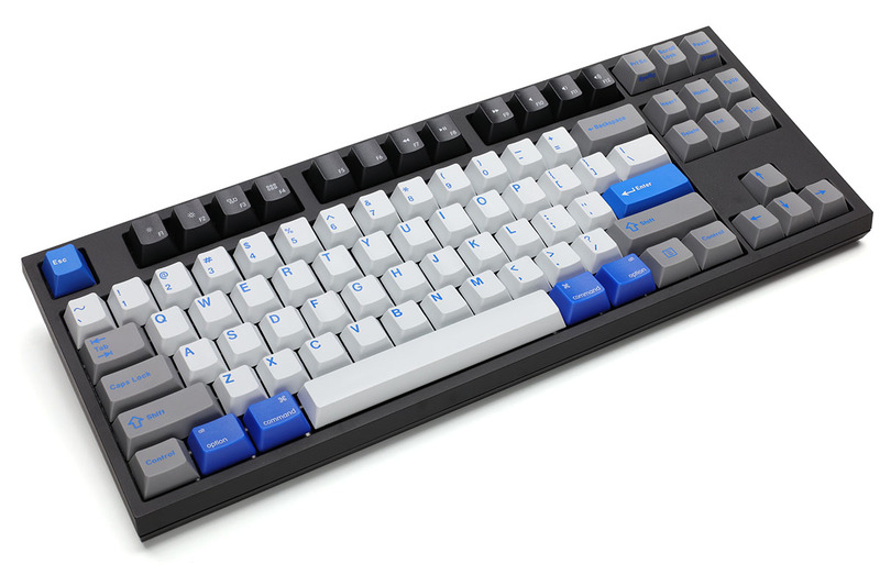 WASD Keyboardsで新たに買ったキーボード。各種パーツを追加するなどして細々したカスタマイズを施しています。