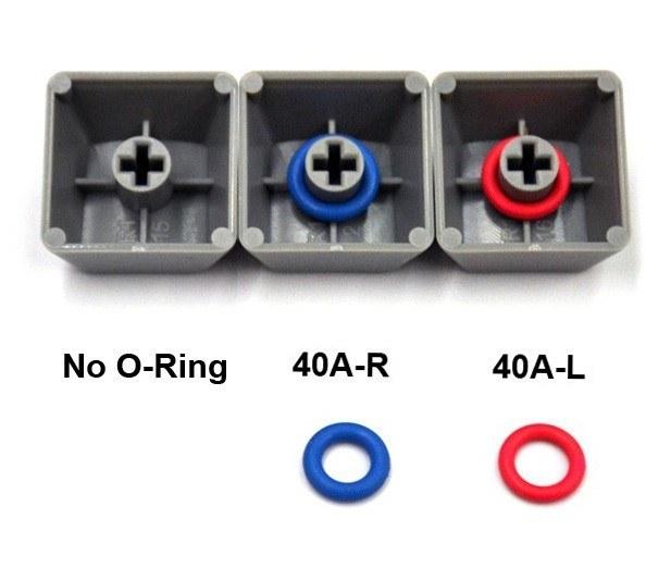 キー押下時のキースイッチの「底突き」を緩和するOリングことダンパー「Cherry MX Rubber O-Ring Switch Dampeners (125pcs)」も購入。125個入りが1パックUS15ドルです。Cherry MXキースイッチ用キーキャップに装着して使います。使用すると、キー押下感触がソフトになりつつ打鍵音も少し静かになります。
