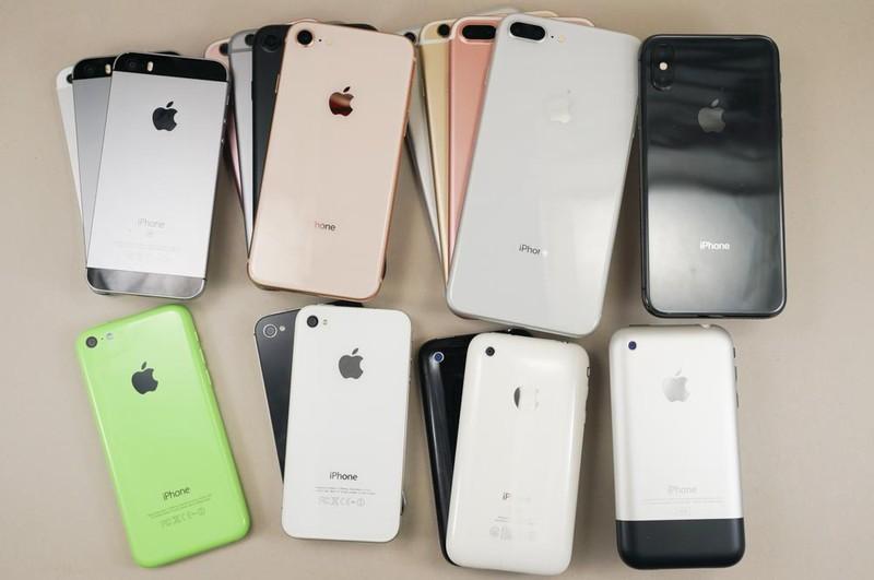 歴代iPhoneの数々