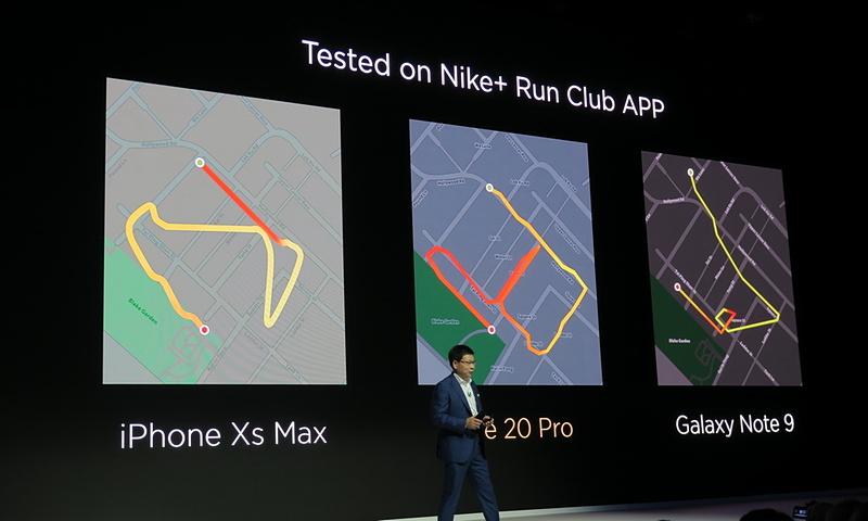 GPSはL1+L5対応となったため、[NIKE+ RUN]アプリで街中を走ると、ライバル機種よりも正確にトレースが可能