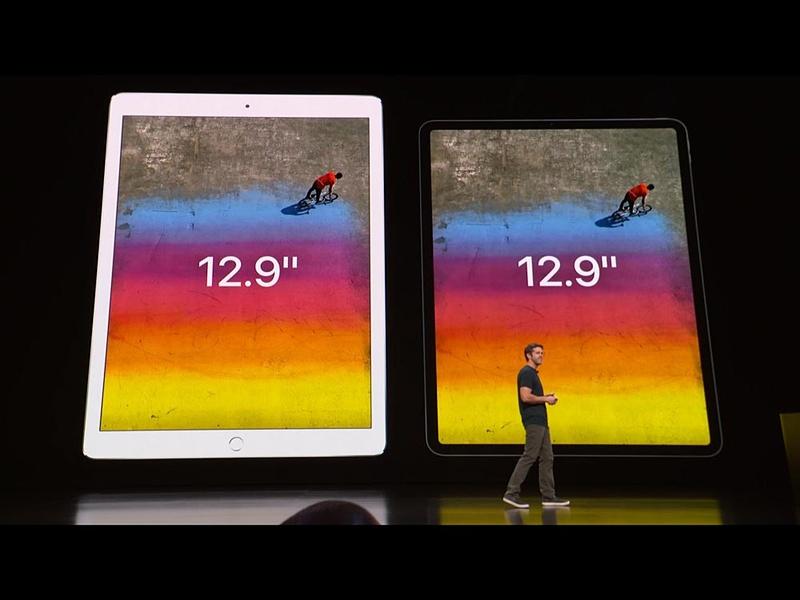 12.9インチiPad Proは画面サイズはそのままで小型化している