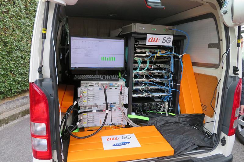 車載の5G基地局設備を使用