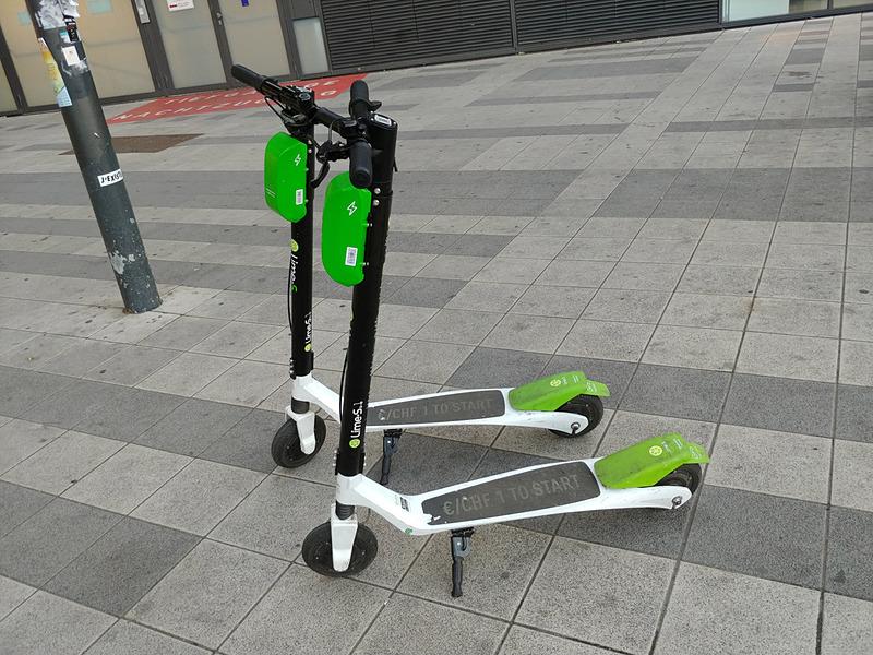 こちらはLimeの電動キックスクーター「Lime-S」