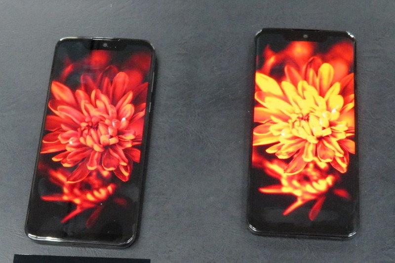 「リッチカラーテクノロジーモバイル」によるチューニング後の状態(左)とチューニング前の状態(右)